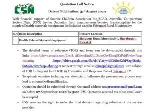 CSN- SCAI- COVID 19- Notice call